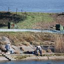 Elbe, water basin, fishing, toad fence