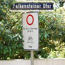 traffic sign, place-name sign, Falkensteiner Ufer