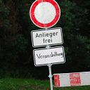 barrier, traffic sign, Waseberg, Blankeneser Heldenlauf