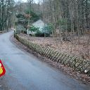 house, Falkensteiner Weg, forest, playground, traffic sign, fence