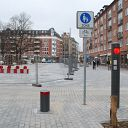 traffic sign, bollard, traffic light, Hansaplatz