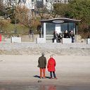 beach, Strandweg, bus stop
