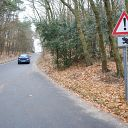 Falkensteiner Ufer, car, forest, traffic sign, Wittenbergener Weg