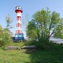 Elbe, tree, lighthouse, Wittenbergen
