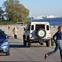 Falkensteiner Ufer, beach, car, jeep